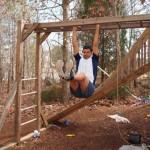 leg raises on the monkey bars